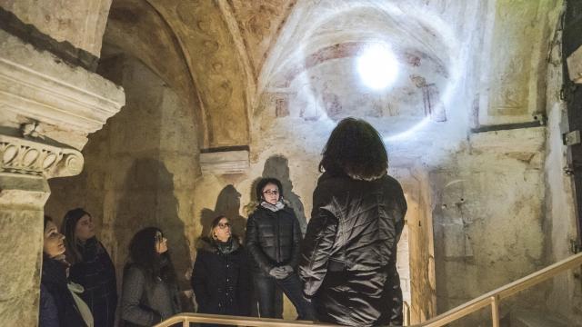 Visite guidée Cryptes Carolingiennes Abbaye