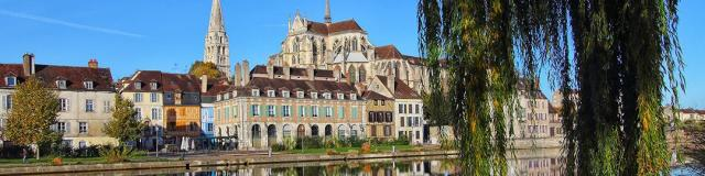 Vue abbaye et quais