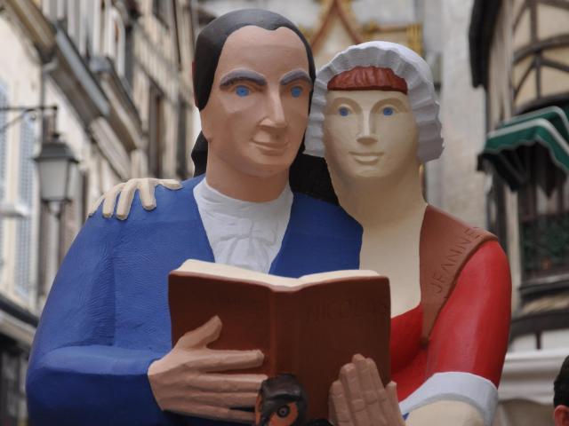 Rétif de la Bretonne-François Brochet-Auxerre-statue