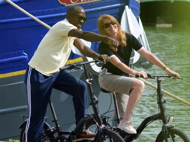 Cycliste canal